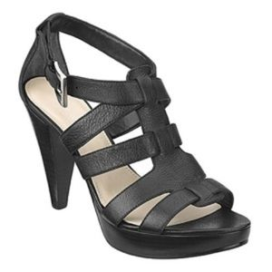 Nine West Balboao Black Heeled Sandals